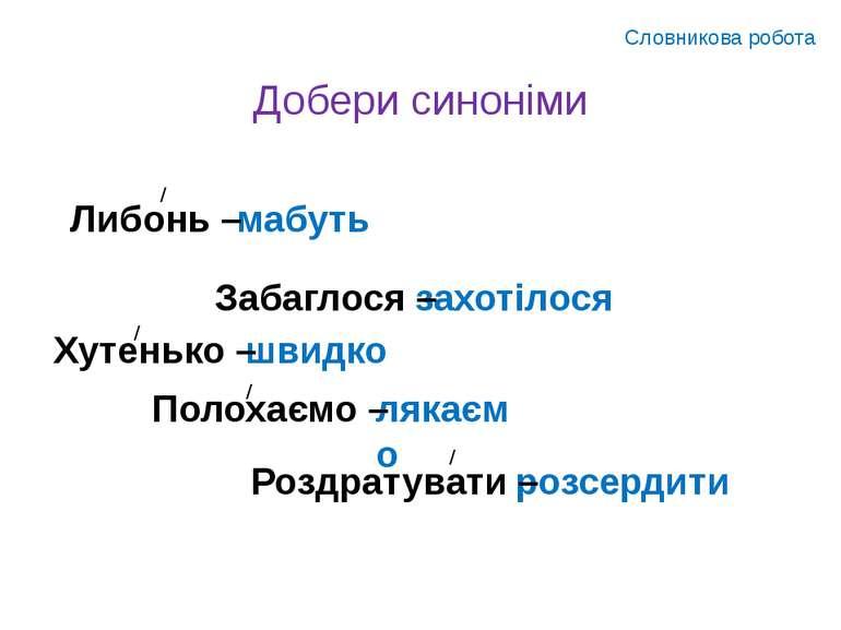 Добери синоніми Словникова робота мабуть захотілося швидко лякаємо розсердити...