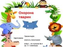 Охорона тварин Презентацію підготувала вчитель початкових класів БЗШ І – ІІІ ...