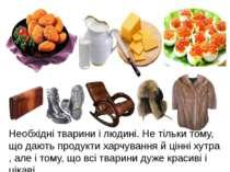 Необхідні тварини і людині. Не тільки тому, що дають продукти харчування й ці...