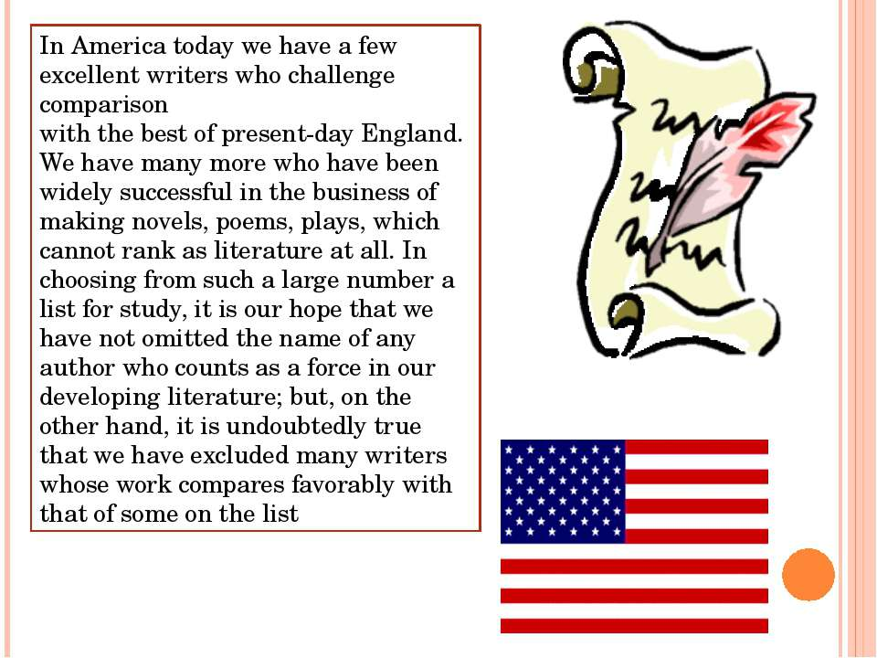In America today we have a few excellent writers who challenge comparison wit...