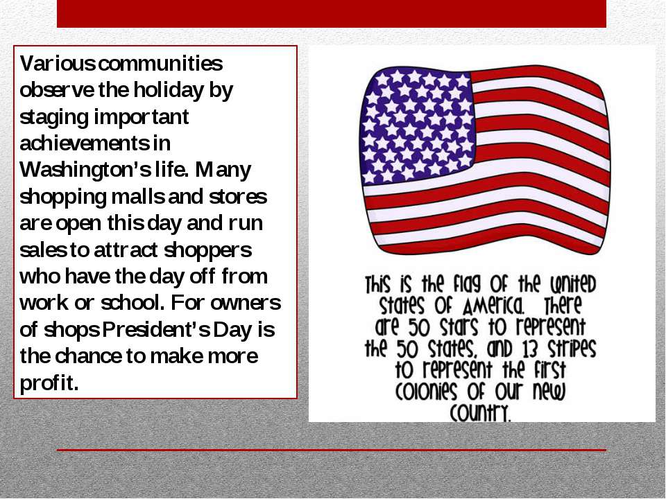 Various communities observe the holiday by staging important achievements in ...