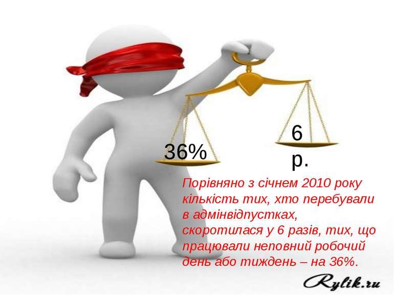 Порівняно з січнем 2010 року кількість тих, хто перебували в адмінвідпустках,...