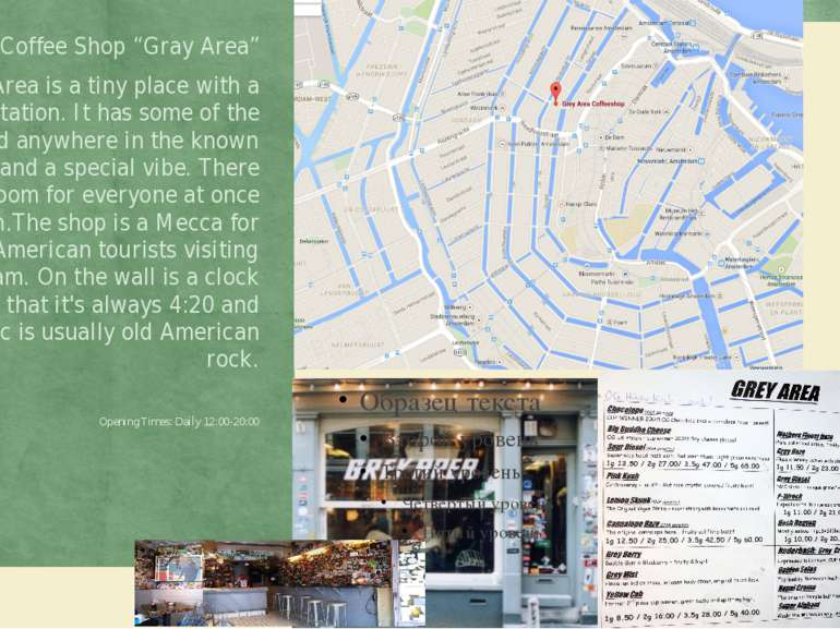"""Coffee Shop """"Gray Area"""" Grey Area is a tiny place with a huge reputation. It ..."""
