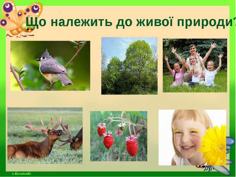 Що належить до живої природи?