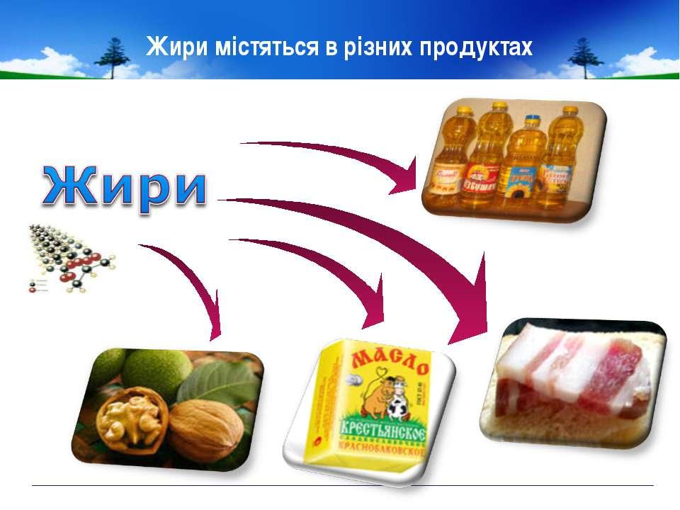 Жири містяться в різних продуктах