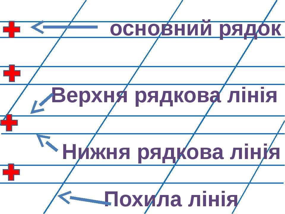 основний рядок Верхня рядкова лінія Нижня рядкова лінія Похила лінія