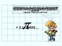 Виявляється, що для всіх кіл відношення довжини кола до довжини його діаметра...