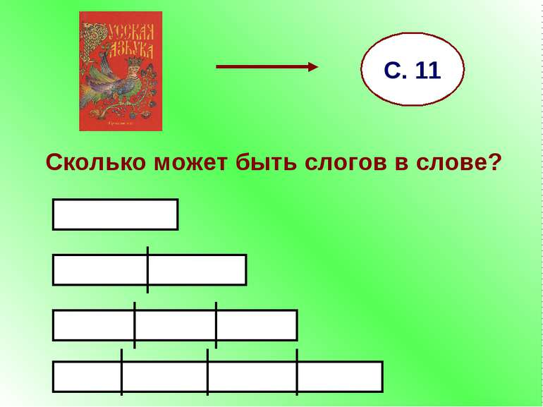 Сколько может быть слогов в слове? С. 11