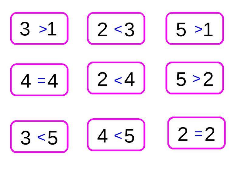 4 4 3 5 2 2 5 2 5 1 2 3 4 5 2 4 3 1 > < > < > < < = =