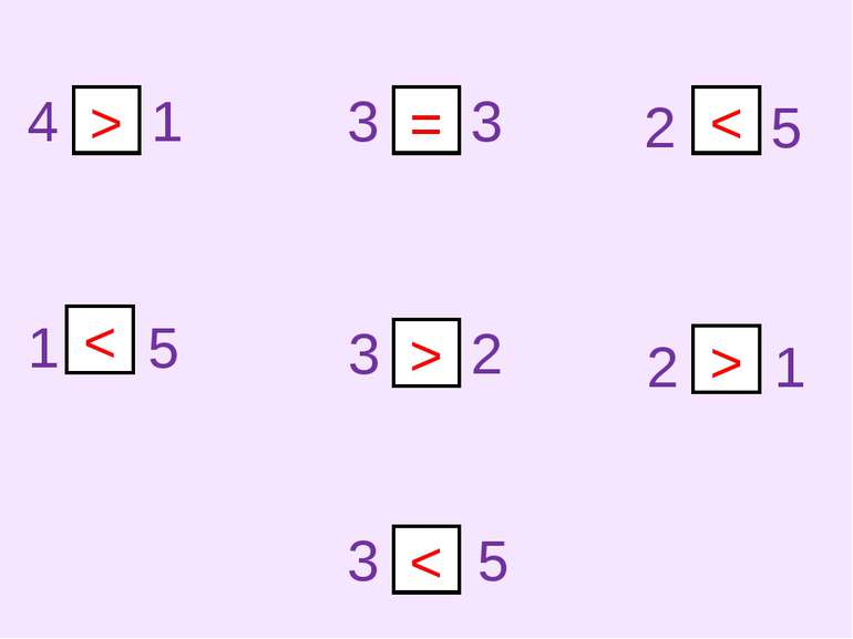 4 1 3 3 3 2 2 5 1 5 3 5 2 1 > = < < > >
