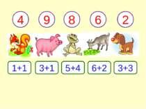 4 9 8 6 2 1+1 3+1 5+4 6+2 3+3