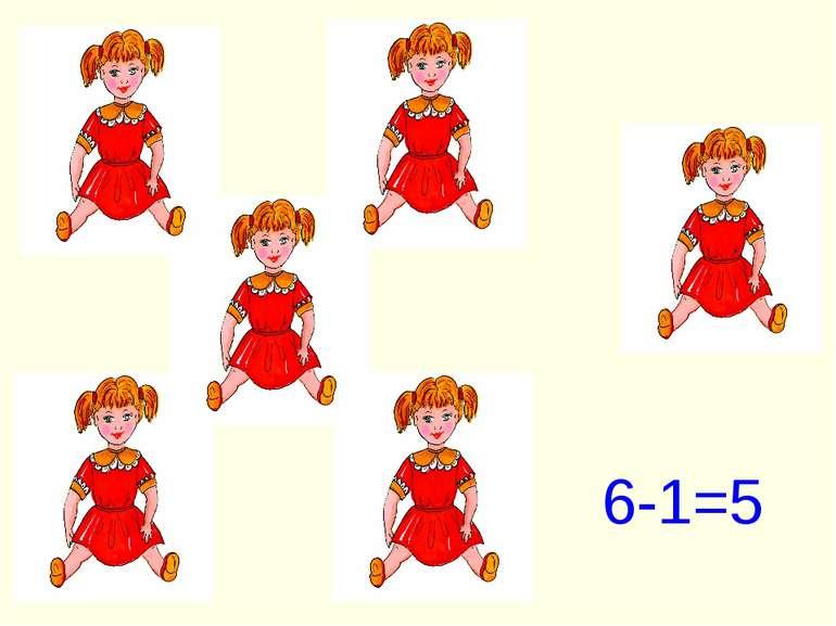 6-1=5