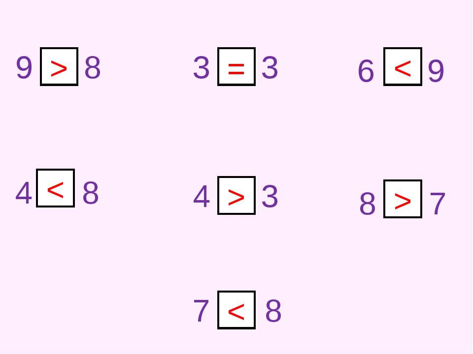 9 8 3 3 4 3 6 9 4 8 7 8 8 7 > = < < > >