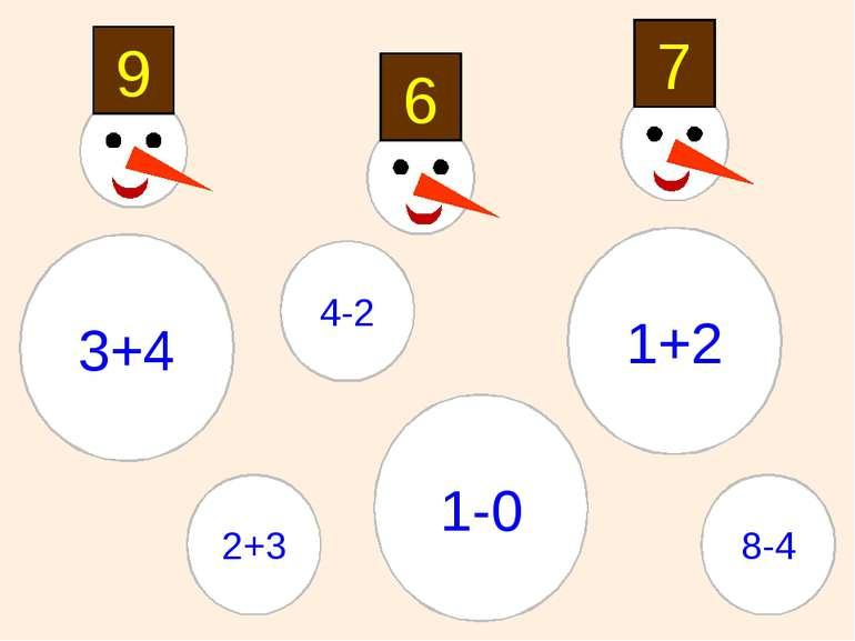 9 7 6 4-2 2+3 8-4 1-0 1+2 3+4