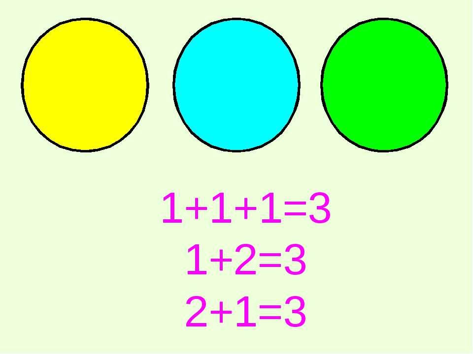 1+1+1=3 1+2=3 2+1=3