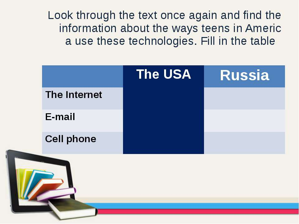 Look through the text once again and find the information about the ways teen...