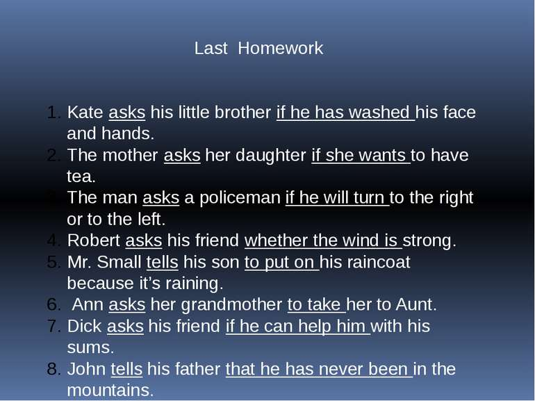 Last Homework Kate asks his little brother if he has washed his face and hand...
