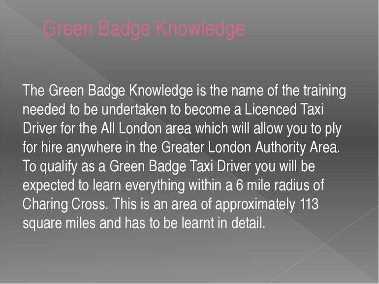 Green Badge Knowledge The Green Badge Knowledge is the name of the training n...