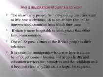 WHY IS IMMIGRATION INTO BRITAIN SO HIGH? The reason why people from developin...