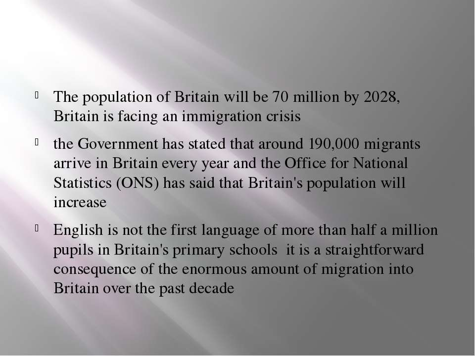 The population of Britain will be 70 million by 2028, Britain is facing an im...