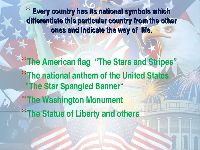 """The American flag """"The Stars and Stripes"""" The American flag """"The Stars and St..."""