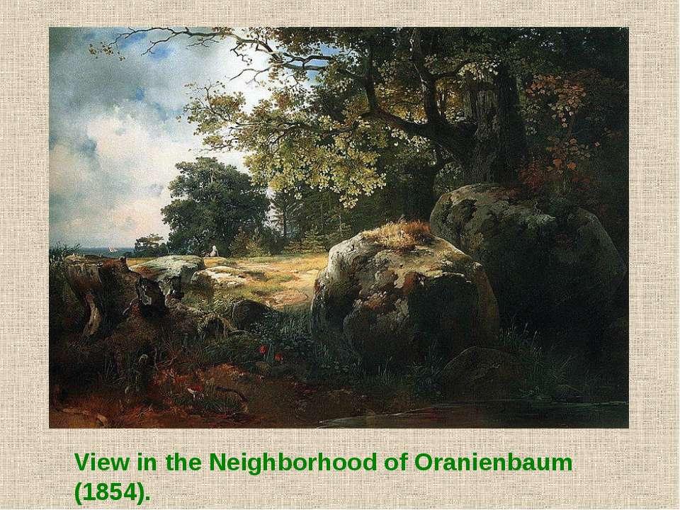 View in the Neighborhood of Oranienbaum (1854).