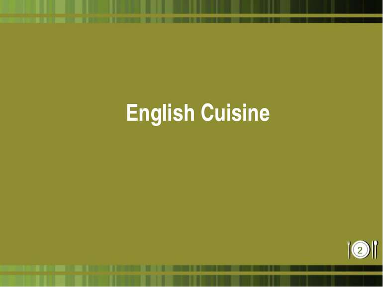 English Cuisine *