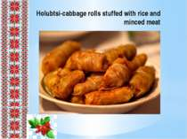 Holubtsi-cabbage rolls stuffed with rice and minced meat
