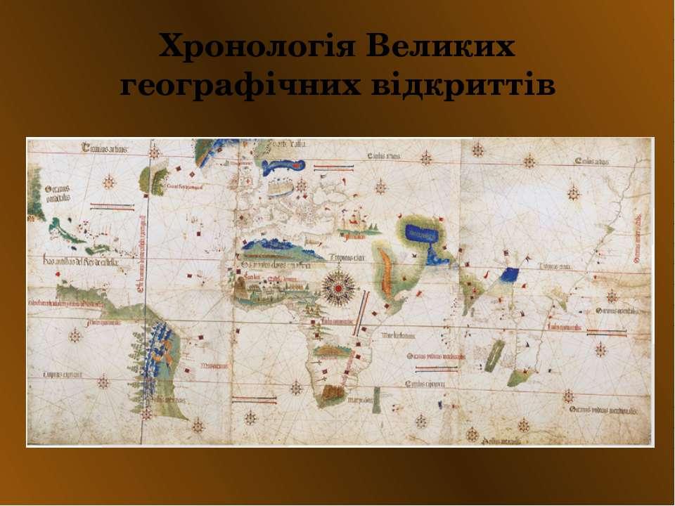 Хронологія Великих географічних відкриттів