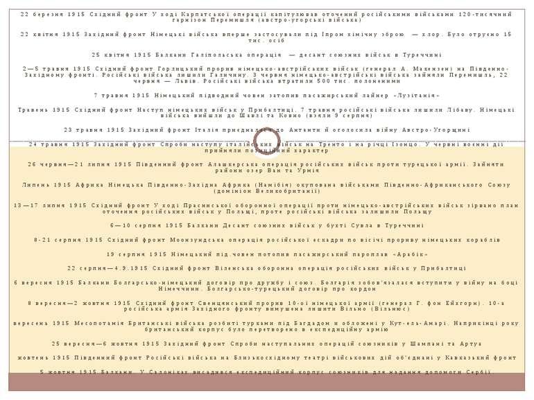 22 березня 1915 Східний фронт У ході Карпатської операції капітулював оточени...