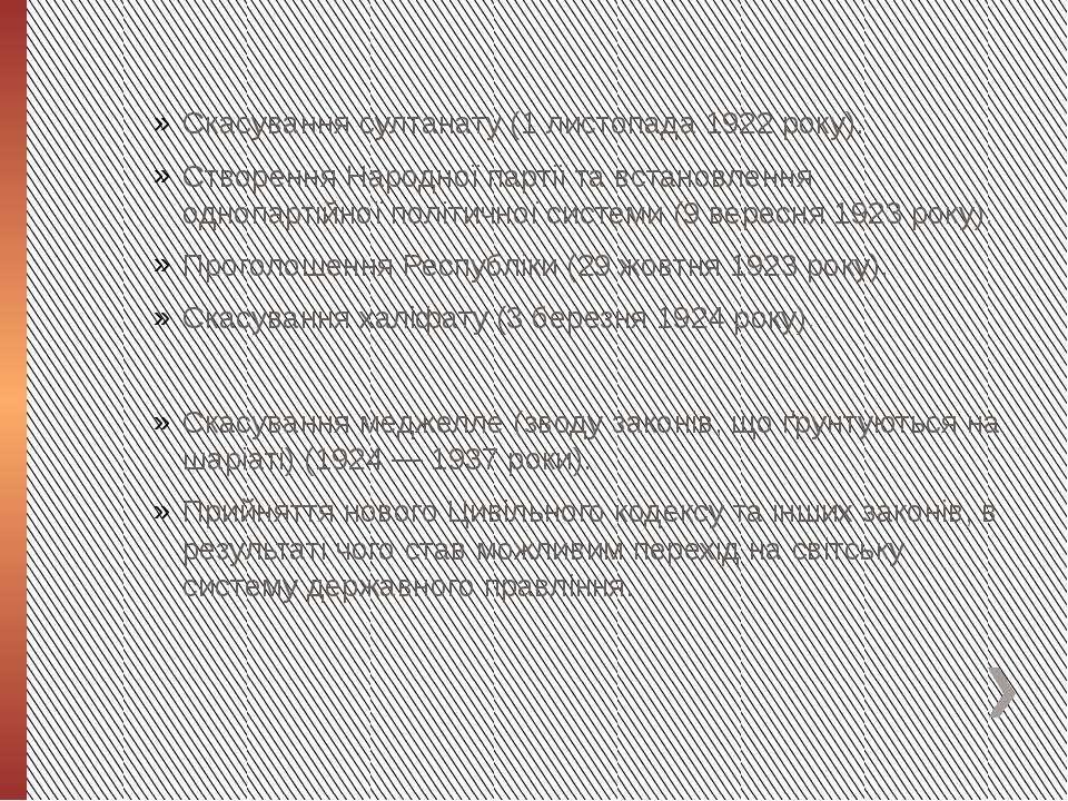 Скасування султанату (1 листопада 1922 року). Створення Народної партії та вс...