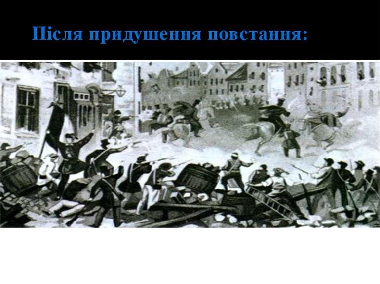 Після придушення повстання: