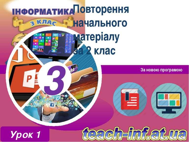 Повторення начального матеріалу за 2 клас За новою програмою Урок 1 3 3