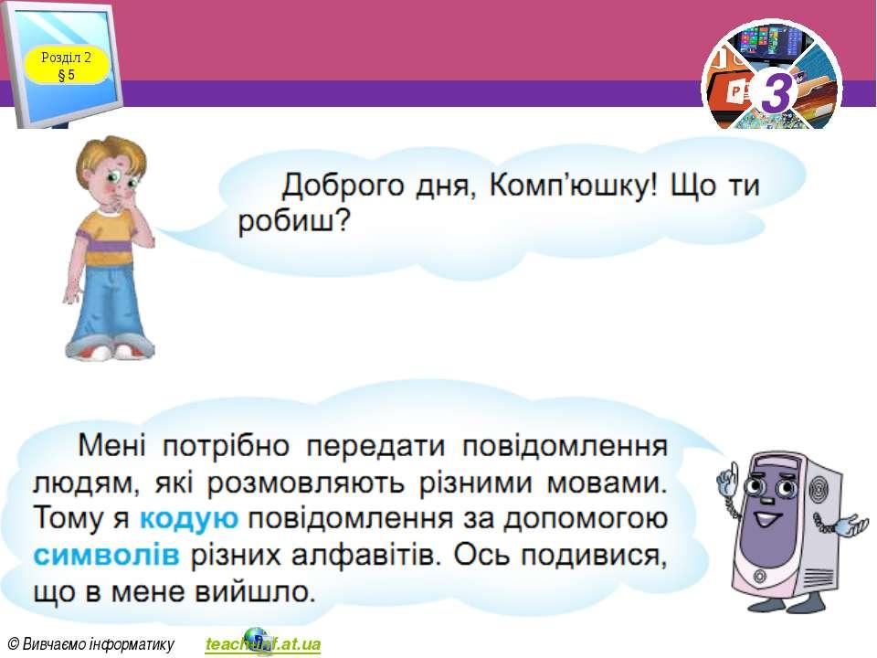 Розділ 2 § 5 3 © Вивчаємо інформатику teach-inf.at.ua 3