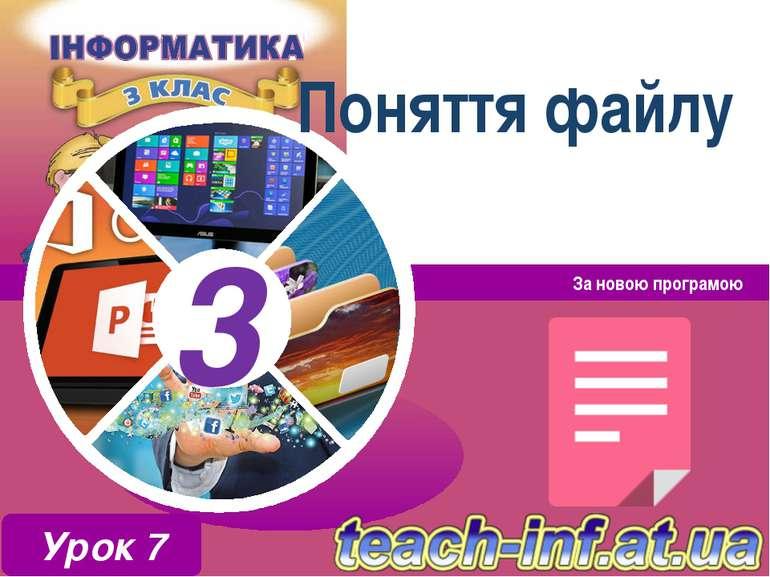 Поняття файлу За новою програмою Урок 7 3 3