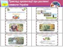 Приклад презентації про рослинні символи України Розділ 5 § 17 3 © Вивчаємо і...