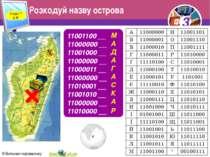 Розкодуй назву острова Розділ 7 § 35 11001100 __ 11000000 __ 11001000 __ 1100...