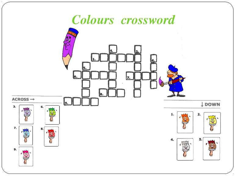 Colours crossword