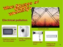 Electrical pollution Using a hair dryer Using an air conditioner Heating a me...