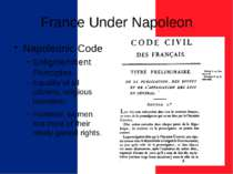 France Under Napoleon Napoleonic Code Enlightenment Principles Equality of al...