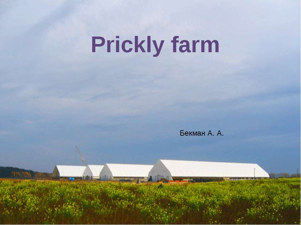 Prickly farm Бекман А. А.