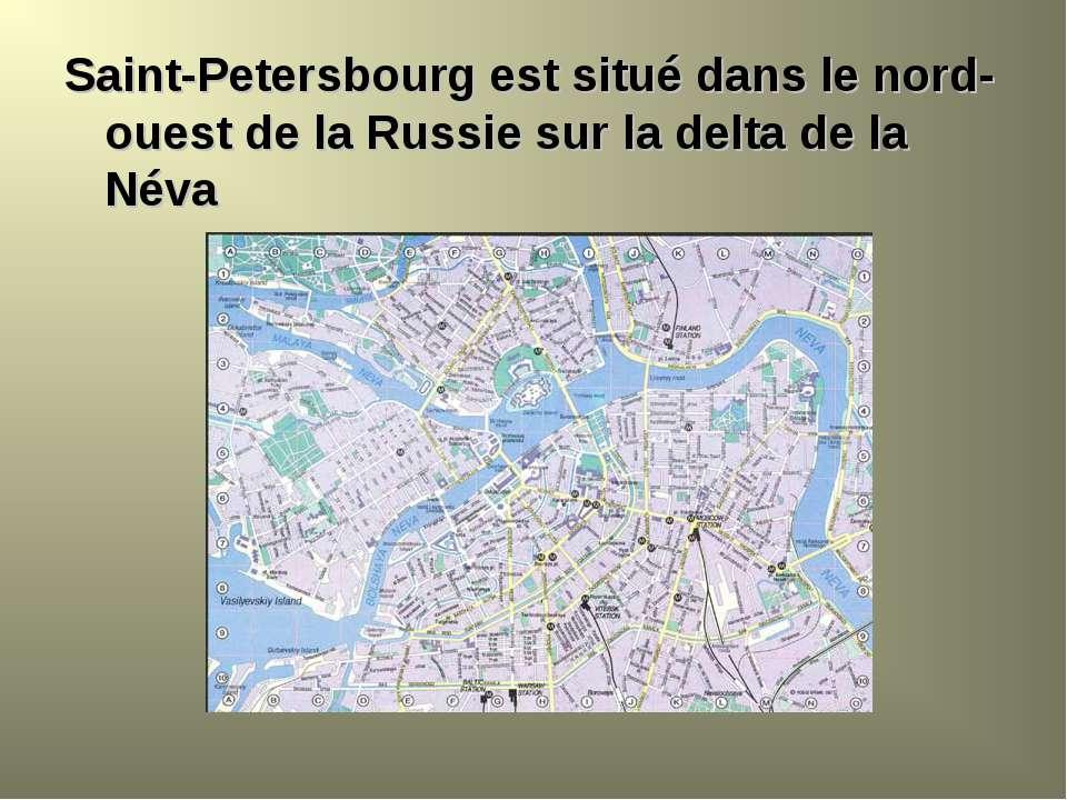Saint-Petersbourg est situé dans le nord-ouest de la Russie sur la delta de l...