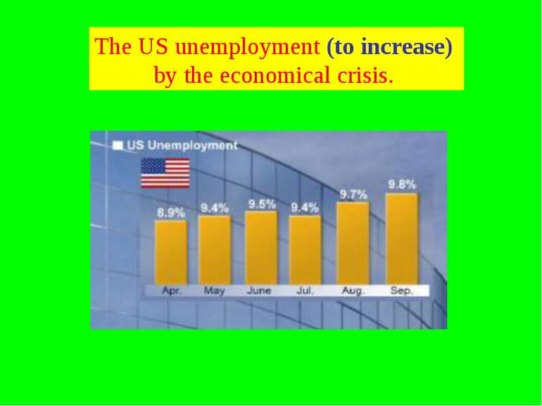 The US unemployment (to increase) by the economical crisis.
