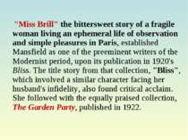 """Miss Brill"" the bittersweet story of a fragile woman living an ephemeral lif..."
