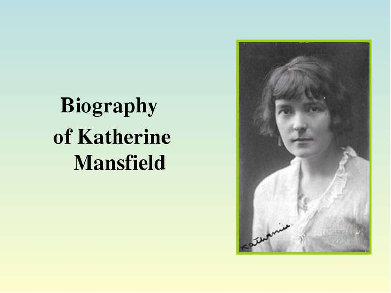 Stylistic Devices In Katherine Mansfield S Literary Works