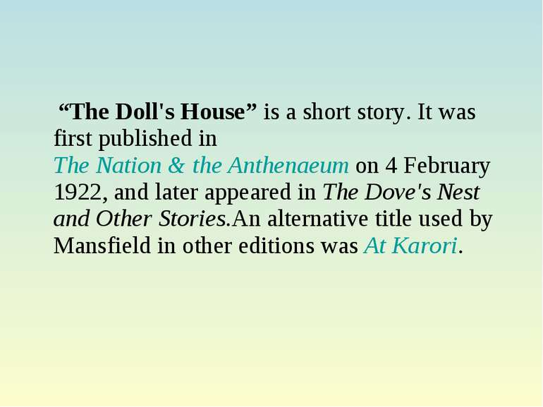 her first ball by katherine mansfield summary