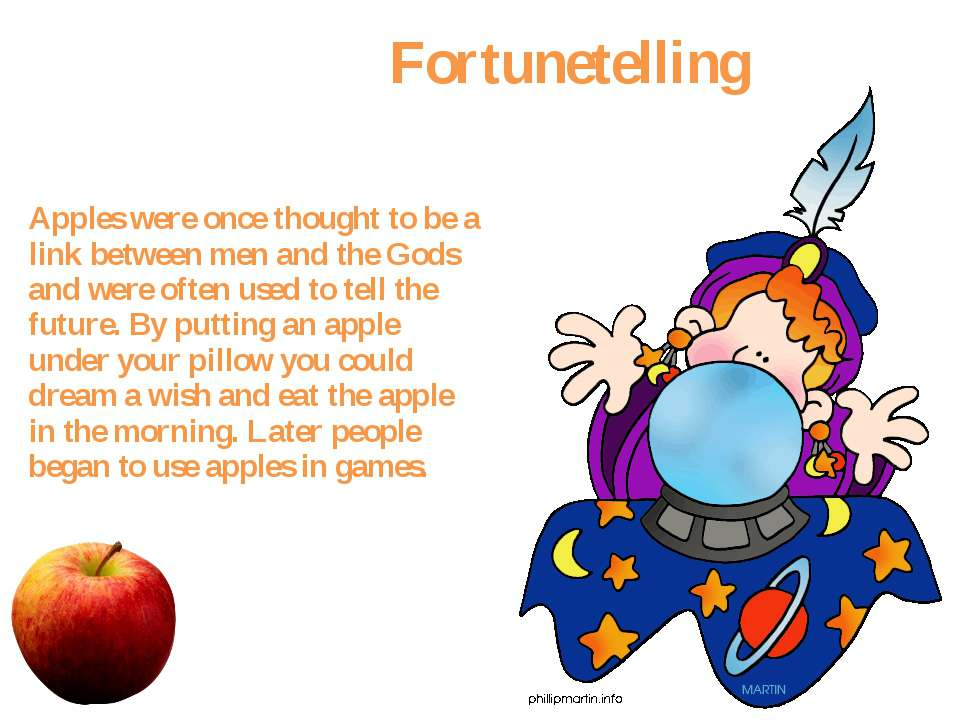 Fortunetelling Apples were once thought to be a link between men and the Gods...