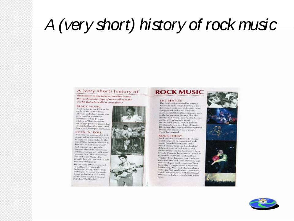 A (very short) history of rock music