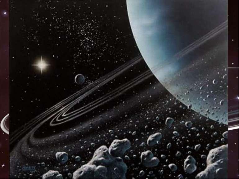 Уран Там темно і холодно. Температура дорівнює -200 °С, а Сонце видається дал...