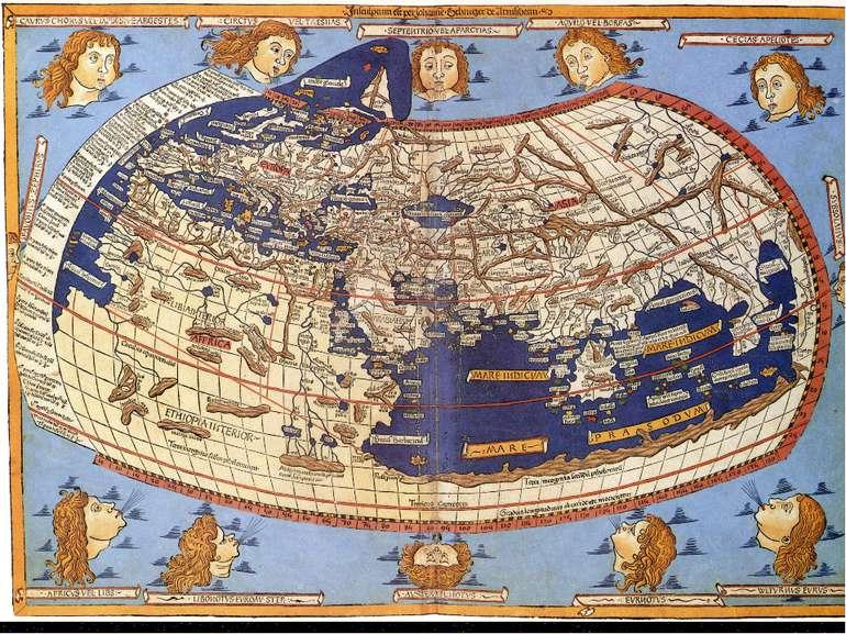 Філософ Анаксимандр уявляв Землю відрізком колони або циліндра. Середину Земл...